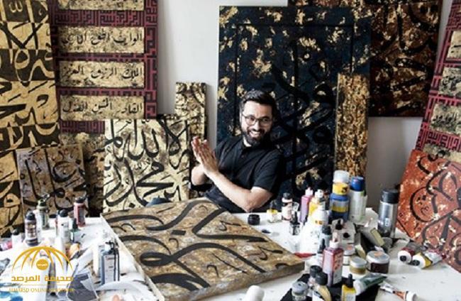 بالصور.. أميرة سعودية تشتري لوحتين من فنان تركي