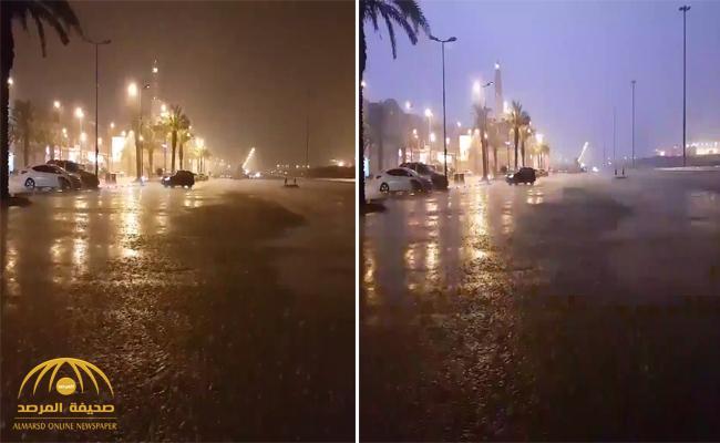 بالفيديو.. هطول أمطار رعدية وسيول على منطقة الرياض وامتلاء سد عضيدان