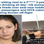 """بالفيديو : شاهد .. ردة فعل مُسافرة """"سكرانة"""" على متن طائرة بعد أن وجدت مقعدها بجوار طفل !"""