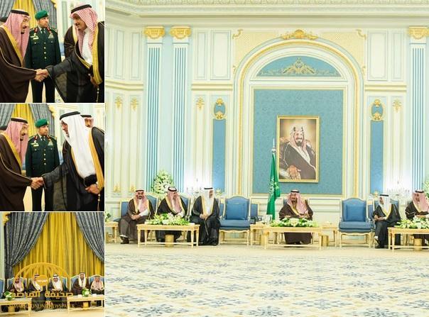 بالصور : خادم الحرمين يستقبل كبار مسؤولي الجهات الرقابية ومكافحة الفساد بقصر اليمامة