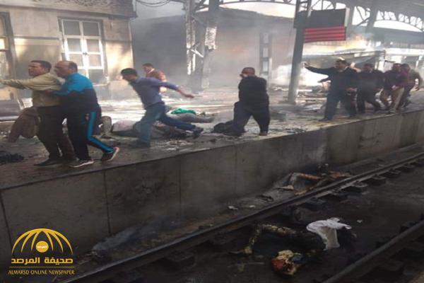 اندلاع حريق ضخم في محطة مصر وسقوط عشرات القتلى.. شاهد بالفيديو والصور: تفحم الجثث!