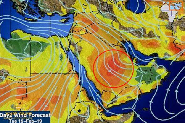"""هطول أمطار على هذه المناطق بالمملكة.. و""""المسند"""" """" يكشف تفاصيل طقس اليوم!"""
