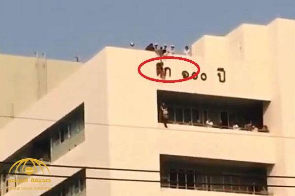 """بعد مطاردتها لـ""""سحلية"""" فوق سطح مستشفى .. القدر ينقذ طفلة صينية من موت محقق!- فيديو"""