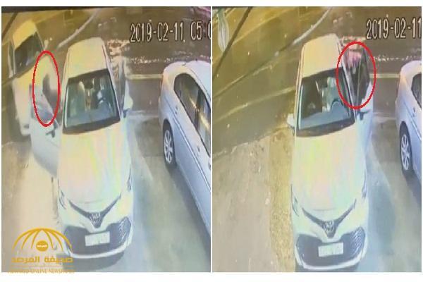"""شاهد:  لص """"جريء """"يسرق سيارة تركها صاحبها في وضع التشغيل وبداخلها امرأة!"""