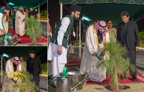 """الكشف عن السر وراء زراعة """"ولي العهد"""" شجرة في القصر الرئاسي خلال زيارته لـ """"باكستان""""!- صور"""