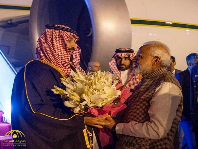 """رئيس الوزراء الهندي يستقبل ولي العهد بنوعية نادرة من """"الزهور"""".. والكشف عن تاريخها وما ترمز له!"""