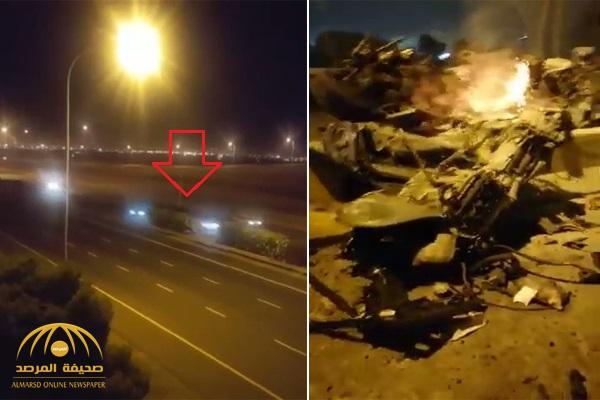 """شاهد .. حادث مروع لسيارة """"رينج روفر"""" تسير بسرعة 300 كم في الكويت"""