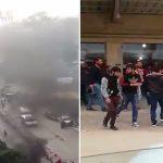 شاهد أهالي سجناء يحاولون اقتحام سجن القبة في لبنان .. وفيديو يوثق لحظة إطلاق القوات النار عليهم