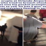 """شاهد .. ذعر وفوضى في مطار أورلاندو بفلوريدا بعد اختراق مسافر للحاجز الأمني .. والسر في كلمة """"بندقية"""""""