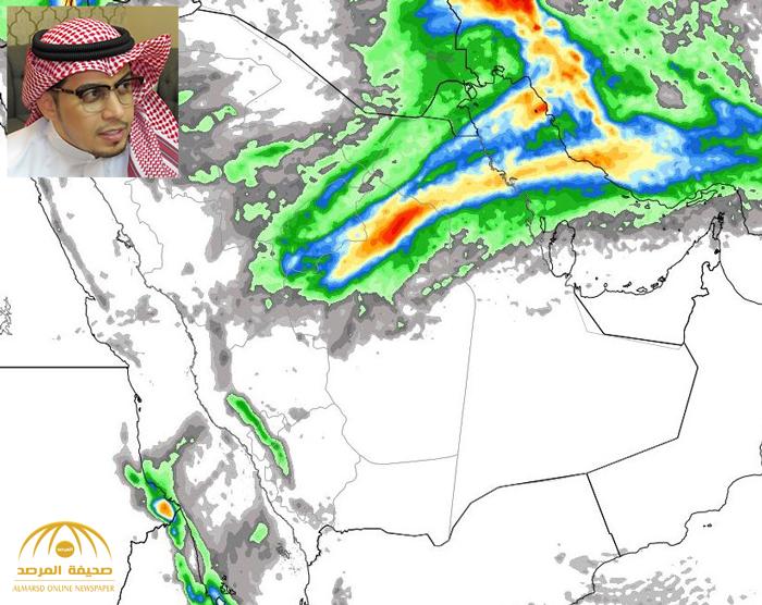 """"""" الجهني"""" يكشف عن خريطة أمطار الليلة ويحدد موعد نهايتها!"""