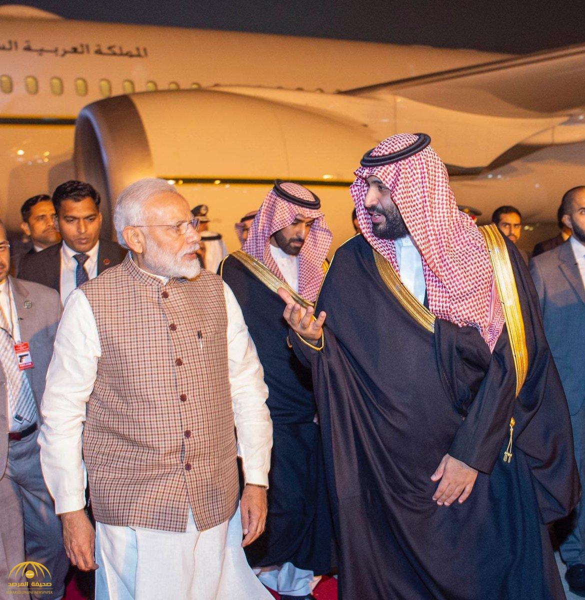 رئيس وزراء الهند يكسر البروتوكول لاستقبال ولي العهد