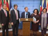 بالفيديو:  فرنسا وبلجيكا وبريطانيا وألمانيا وبولندا في الأمم المتحدة يصدرون بيانا مشتركا حول الجولان