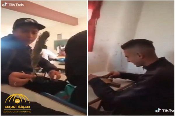 فضيحة.. شاهد: طلاب مغاربة يتعاطون المخدرات داخل الفصل !