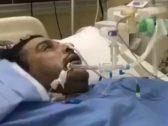 وجد مفاجأة غير متوقعة بجانبه.. مواطن يوثق لحظة إفاقته من الغيبوبة بعد 28 يومًا.. ويهرب من المستشفى لهذا السبب!