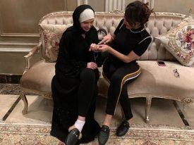 """""""عروسة النيل"""" في منزل بسمة وهبة بجدة.. شاهد: هل تمت خطبة الراقصة دينا على سعودي بعد أداء العمرة؟"""