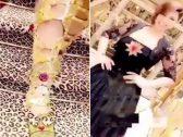 بعد فستانها الفاضح .. شاهد : شمس تحدث ضجة بحذائها المصنوع من الذهب !