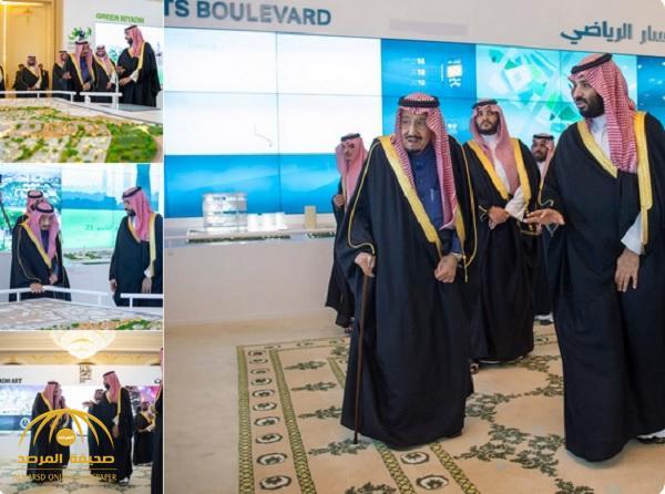 شاهد .. خادم الحرمين يطلق 4 مشاريع كبرى في الرياض بـ 86 مليار ريال