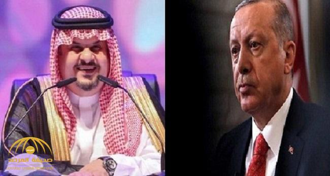 """عبدالرحمن بن مساعد : لا يجب أخذ مواقف أردوغان على محمل الجد ..بل يتم الرد عليها بـ""""إيموجي""""!"""