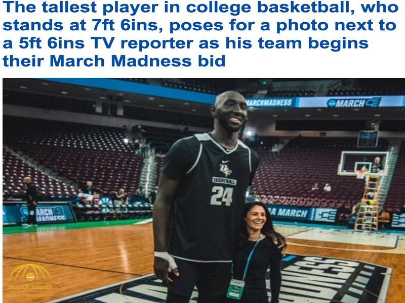 شاهد: أطول لاعب مرّ بتاريخ كرة السلة يثير جدلاً واسعاً في أمريكا- صور