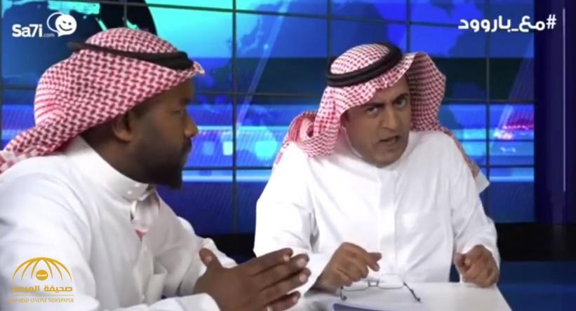 """""""فصفص"""" في الاستديو.. شاهد: الفنان خالد الفراج """"يطقطق"""" على """"الشريان"""" في حلقة هروب الفتيات!"""