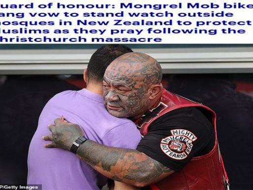 """بالصور .. """"العصابات"""" في نيوزيلندا تعلن عن موقف شريف لحماية المساجد بعد الهجوم الإرهابي!"""