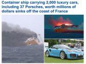 بينها 37 سيارة بورش.. غرق سفينة شحن تحمل 2000 سيارة فاخرة في المحيط الأطلسي! -فيديو وصور