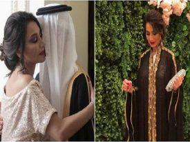 شاهد بالصور: الإعلامية المصرية بسمة وهبة تفاجئ ابنها وتحضر حفل زفافه في السعودية!