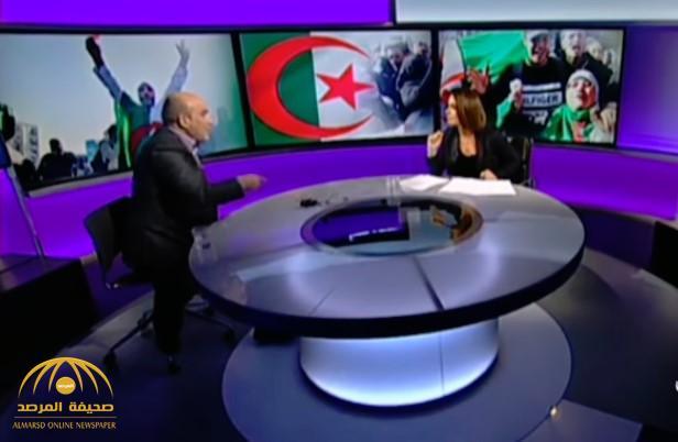 شاهد.. معارض جزائري لمذيعة «BBC»: «أنتي قبيحة».. ورد فعل مفاجئ منها!