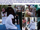 """شاهد : جلد مجموعة رجال ونساء في إندونيسيا بتهمة """"مسكة يد"""" !"""