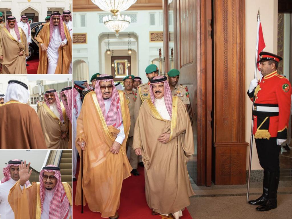 بالصور: خادم الحرمين يغادر مملكة البحرين