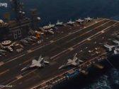 شاهد.. طائرة إيرانية تتحرش بمدمرة أميركية في مياه الخليج العربي!