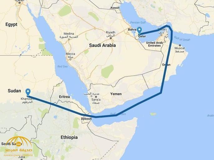شاهد.. خط سير طائرة الوفد القطري إلى السودان.. مسافة صادمة