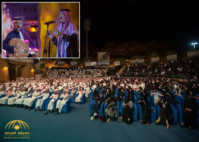 بالصور والفيديو :  الفنانان عبادي الجوهر وعلي عبدالكريم يشعلان ليل حائل!