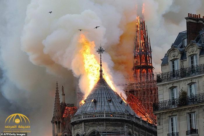 شاهد : حريق ضخم يلتهم كاتدرائية نوتردام التاريخية في باريس