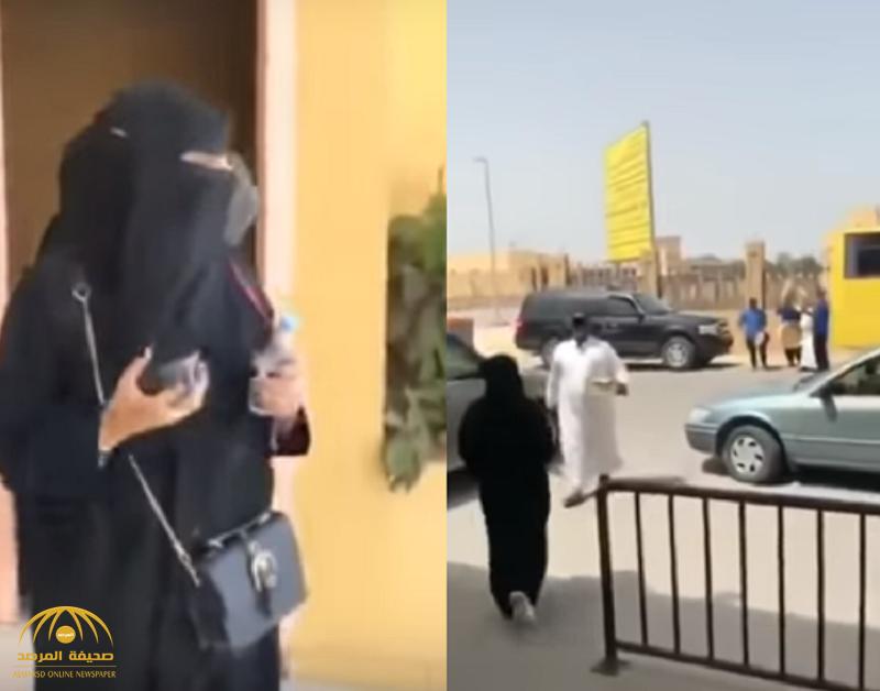 شاهد.. لحظة استقبال أسرة لابنتهم بالدفوف على باب الجامعة.. وردة فعل الفتاة