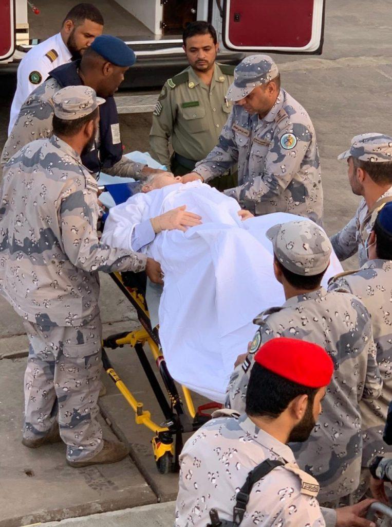 بالصور : السعودية تنقذ راكباً أمريكياً تعرض لنزيف معوي وارتجاف في القلب على متن سفينة ركاب سياحية