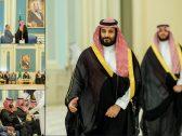 """بالصور : تفاصيل لقاء """"ولي العهد"""" برئيس وأعضاء مجلس النواب اليمني"""