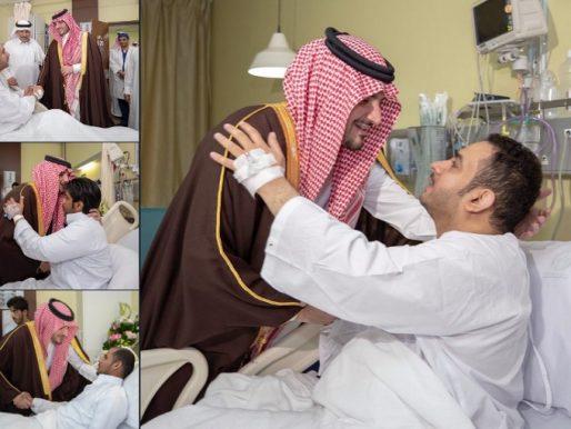بالصور: وزير الداخلية يزور رجال الأمن الذين أصيبوا أثناء تصديهم للهجوم الإرهابي بالزلفي