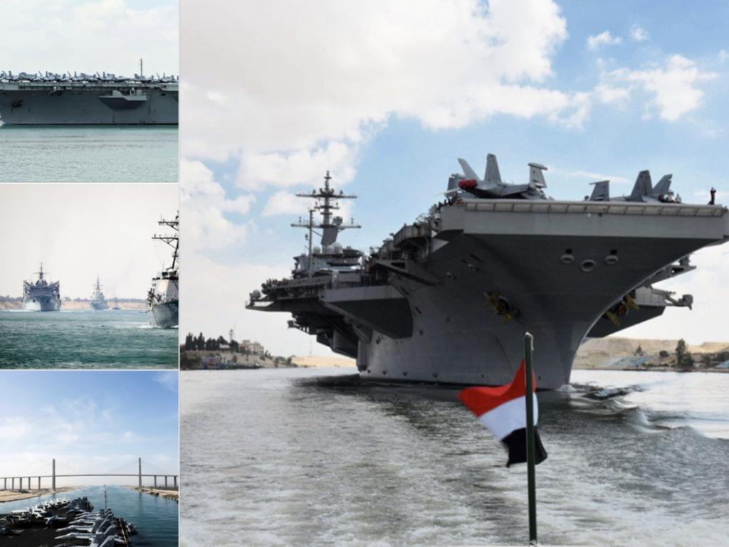 """حاملة الطائرات الأميركية """"أبراهام لينكولن"""" تصيب إيران بالذعر بعد عبورها قناة السويس!-صور"""