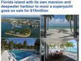 شاهد : جزيرة فارهة تضم 3 منازل للبيع في ولاية فلوريدا الأمريكية