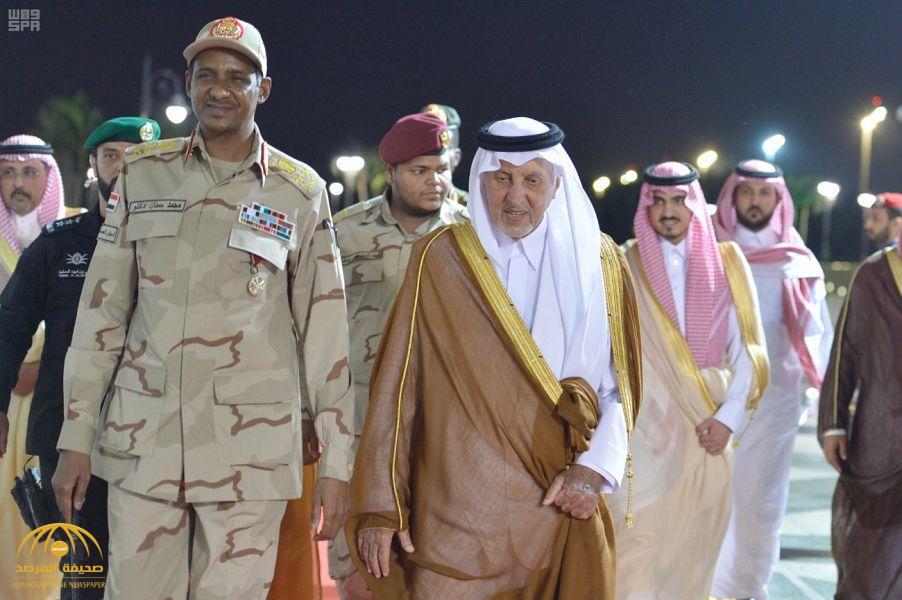 بالصور : الأمير خالد الفيصل يستقبل نائب رئيس المجلس الانتقالي السوداني لدى وصوله إلى جدة