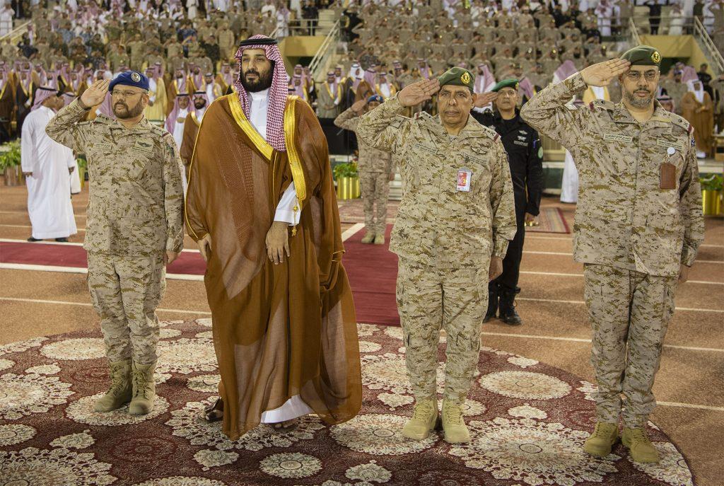 بالصور: ولي العهد يرعى حفل تخريج الدورة 77 من طلبة كلية الملك عبدالعزيز الحربية