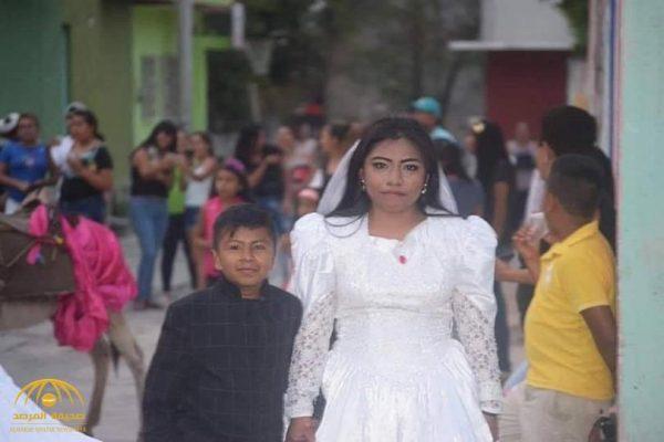 بالصور : فتاة تتزوج من طفل بالمكسيك .. ومفاجأة بشأن العريس!