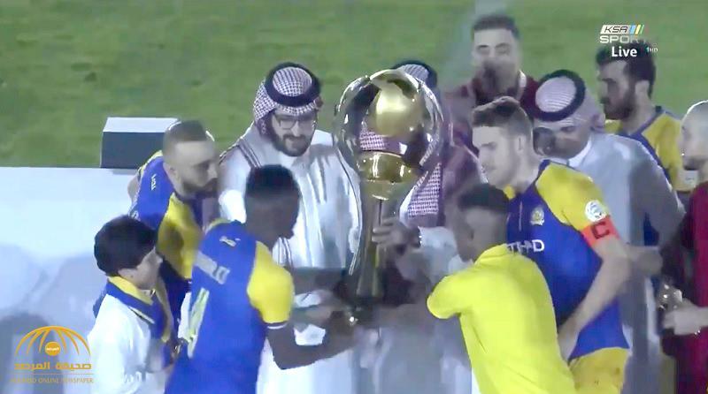 """في احتفال كرنفالي.. شاهد: تتويج """"النصر"""" بدوري كأس الأمير محمد بن سلمان"""
