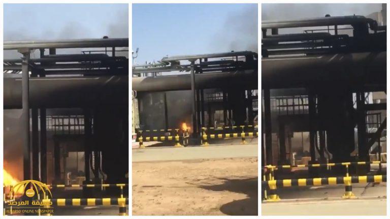 شاهد .. فيديو يظهر أضرار محطة أرامكو بالدوادمي إثر الهجوم الإرهابي الحوثي