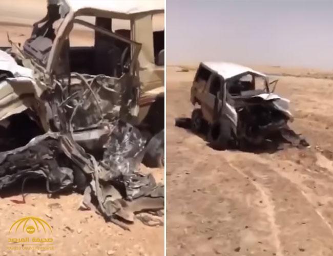 بالفيديو .. تفاصيل حادث تصادم مروع وقع أمس السبت على طريق رفحاء !