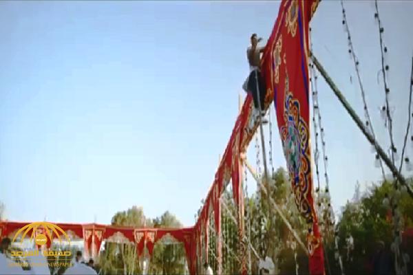 """شاهد .. الفنان المصري """"محمد رمضان"""" ينجو من إصابة محققة أثناء تصوير مسلسل """"زلزال"""""""
