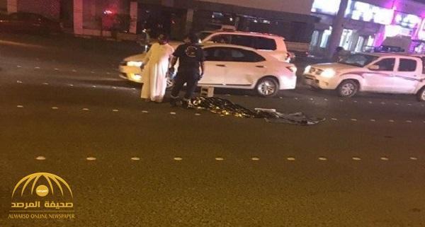 بالصور .. وفاة أربعينية وفتاة في حادث دهس مروع بجازان