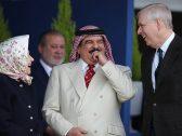 بالصور.. ملك البحرين يحضر مع ملكة بريطانيا سباق خيل!