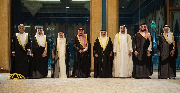 """بالفيديو.. صورة تذكارية لـ""""خادم الحرمين"""" مع قادة الخليج في قصر الصفا بمكة"""